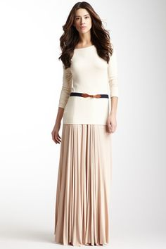 Ribbed Seamed Maxi Skirt by Rachel Pally on @HauteLook