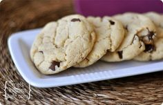 Cream Cheese Choc Chip Cookies  Egg free! Will definitely be making these for my egg allergy friend!