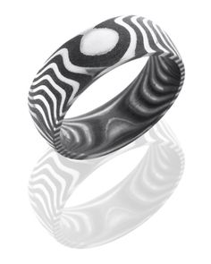 A tiger Damascus Steel Ring