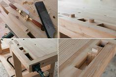 מדריך לבנייה של שולחן נגרים מסורתי עם כלים ידניים לנגרים