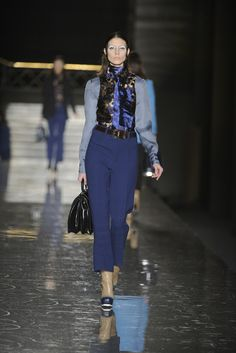 Miu Miu RTW Fall 2012. Rich blue tones cropping up everywhere for fall!