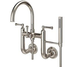 Polished Nickel Tisbury Wall Mounted Tub Filler | Pfister Faucets
