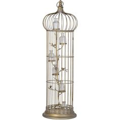 Large Birdcage With Bottle Candle Holders ($145) ❤ liked on Polyvore featuring home, home decor, decor, fillers, bird cage home decor, handmade home decor and contemporary home decor