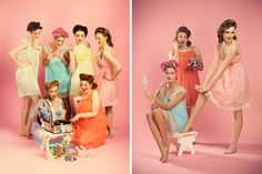 Vintage-Hen-Party-Ideas---Vintage-Styling-2. Read More - http://onefabday.com/vintage-style-hen-party-ideas/