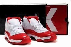 57ef9507333d81 Cheap Nike Air Jordan 11 Retro (White Red) on sale michael jordan jumpman 23  basketball shoes for cheap