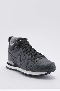 Nike Internationalist Mid Black Leather Trainers