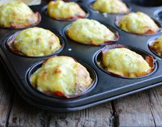 Cheesy Bacon and Egg Breakfast Cups - also lovely with tomato and mushroom