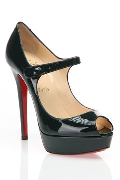 Christian Louboutin Peep Toe Pumps.
