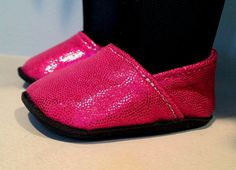 """Glitter Shoes inspired by TOMS fits 18"""" American Girl Doll. $8.00, via Etsy."""