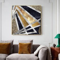 Canvas Wall Art Very beautiful large format abstract oil on canvas CYS-1P