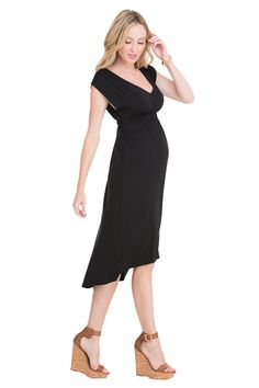 Ingrid & Isabel Empire High-Low Maternity Dress | Maternity Clothes   www.duematernity.com
