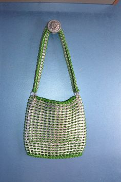 Green Pop Tab Purse
