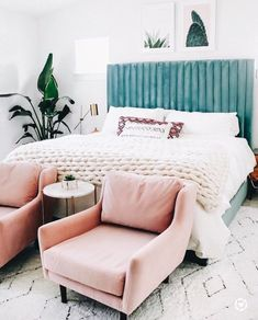 These rooms boast mid-century modern bedroom design and are just as sleek and st. - Modern Home Design - Bedroom Decoration Inspiration, Room Inspiration, Decor Ideas, Boho Ideas, Home Decor Bedroom, Bedroom Furniture, Bedroom Ideas, Glam Bedroom, Furniture Plans