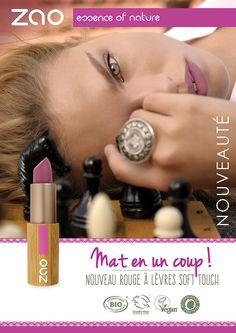Rouge+à+Lèvres+Soft+touch+Mat+et+Intense+431+Rose+Violine+Bio+-+Zao+Makeup
