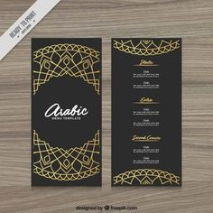 Discover thousands of copyright-free vectors. Graphic resources for personal and commercial use. Thousands of new files uploaded daily. Restaurant Menu Card, Deco Restaurant, Restaurant Menu Design, Indian Menu Design, Food Menu Design, Arabic Design, Arabic Food Menu, Pho Menu, Urban Eats