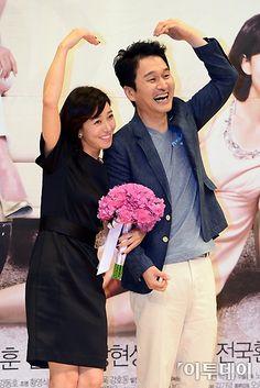 장현성(Jang Hyun-sung) and 장영남 (Jang Yeong-nam) at the 'Goddess of Marriage' press conference (2013)