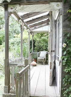 love the old look...hideout porch by juliana