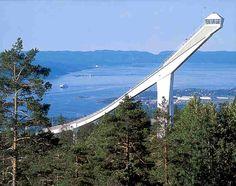 Holmenkollbakken is a large ski jumping hill located at Holmenkollen in Oslo, Norway. August 2003 w/Arlene & Patan Oslo, Norway In A Nutshell, Norway Viking, Beautiful Norway, Ski Jumping, Scandinavian Countries, Norway Travel, Lofoten, Beautiful Places
