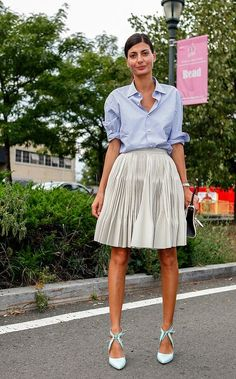 Need to embrace Giovanna Battaglia's style and roll my cuffs over the elbow or else risk looking like I just got off work