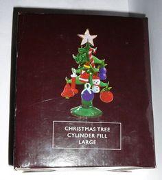 ILLUMINATIONS CHRISTMAS TREE CYLINDER FILL Miniature Glass Tree & Ornaments