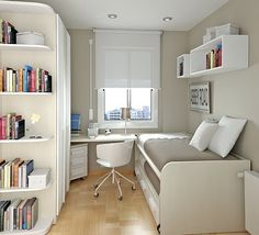 Minimalist teenage bedroom design by Sergi  - popculturez.com