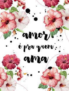 AMOR É PRA QUEM AMA Frases Disney, Flower Words, Wallpaper Quotes, True Love, Decoration, Diy And Crafts, Inspirational Quotes, Lettering, Thoughts