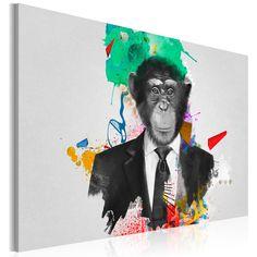 Votre intérieur est à 2 doigts de vous remercier  ---------------------------------------------------------------------  Tableau Mr. Monkey  à 63,61€  sur https://www.recollection.fr/tableaux-animaux-animaux-divers/10141-tableau-mr-monkey.html  #Animaux divers #mobilier #deco #Artgeist #recollection #decointerior #interiordesign #design #home  ---------------------------------------------------------------------  Mobilier design et décoration intérieure  www.recollection.fr