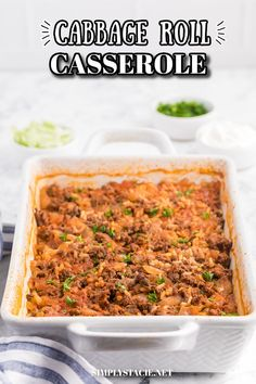 Cabbage Roll Casserole - Cabbage rolls are delicious....but so much work! This casserole has all the flavours you love from cabbage rolls with way less work! Cabbage Roll Casserole, Cabbage Rolls, Tomato Sauce, Casserole Recipes, Ground Beef, Dishes, Baking, Delicious Food, Ethnic Recipes