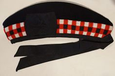 This is an excellent condition British Scottish Highland Diced Red White Black Glengarry Cap Hat 7 3/8.   eBay!