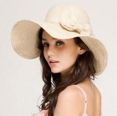 White floppy straw hat for women wide brim sun hats for summer beach wear