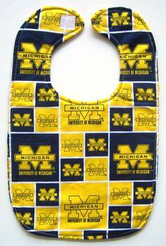 University of Michigan Baby Bib by BibsForBabies on Etsy, $6.00