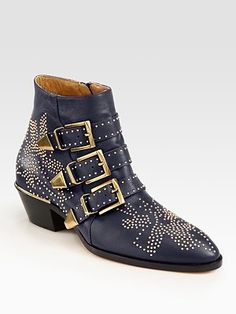 Chloe Susanna boots now available in gorgeous navy at Saks!