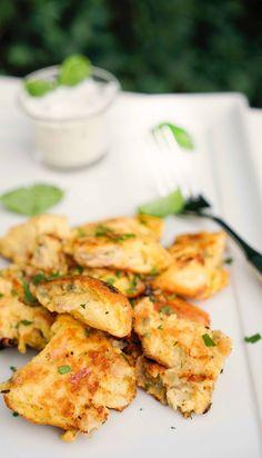 stuttgartcooking: Gemüse-Schmarrn mit einem Joghurt-Radieschen-Dip