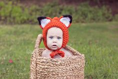 Crochet Fox Hat. Omg. Who is having a baby that would let me make one for them??
