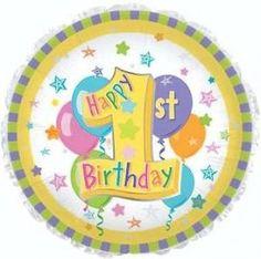 1st Happy Birthday Gender Neutral Balloon Bouquet