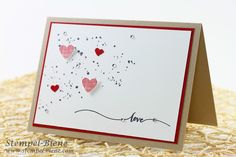 Stampin Up Valentintstag, Valentine's Day Card, Stampin Up Hello Life, Stampin Up Combined shipping, Stampin Up stamp parties