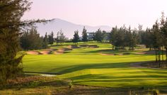 An 18-hole golf course at Da Nang Vietnam, and it can be easily accessed from your Montgomerie Links Residence Villas