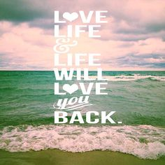 Love Life 2 / seascape / typography / beach quote / by joystclaire, $15.00 ocean art, typography print, etsy, photography, seascape, Lake Michigan, Michigan, beach, beach decor, home decor, inspirational quote