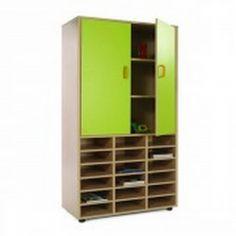 Mueble escolar alto casillero y armario