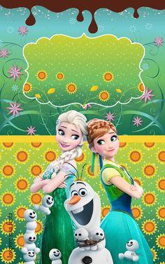 Bisnaga de Brigadeiro Frozen Febre Congelante Frozen Birthday Party, Frozen Party, 3rd Birthday Parties, Anna Y Elsa, Anna Frozen, Disney Frozen, Walt Disney, Frozen Primavera, Festa Frozen Fever