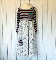 Upcycled Women's Dress / Comfortable Knit by AmadiSloanDesigns, $65.00
