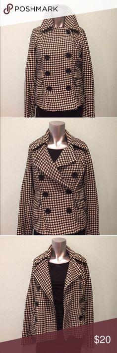 Selling this Houndstooth peacoat on Poshmark! My username is: sf_ashionista. #shopmycloset #poshmark #fashion #shopping #style #forsale #Paris Blues #Jackets & Blazers