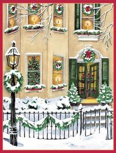 Caspari Santa In Brocade Coat Boxed Christmas Cards, Box of 16 ...