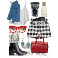 Moschino by camilla-tartaglia on Polyvore featuring polyvore, mode, style, RVCA, Monki, Zara, H&M, Yves Saint Laurent, Hermès, Bling Jewelry, Equipment, Moschino, Le Labo and Sourpuss