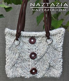 Free Pattern - Knit Dragon Skin Stitch for Purse