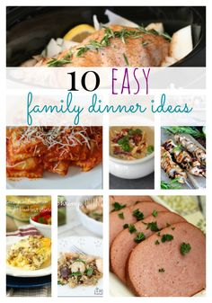 10 Family Dinner Ideas - always looking for new ones!!!!!  Pinning now for later!
