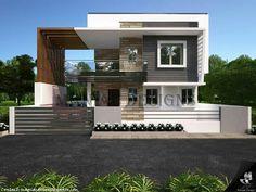 New Ideas For House Design Exterior Simple Layout Modern Villa Design, Modern Apartment Design, Bungalow House Design, House Front Design, Modern House Facades, Modern House Plans, House Architecture Styles, Architecture Design, House Blueprints