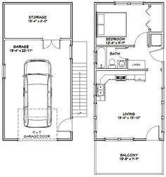 16x32 Tiny House -- PDF Floor Plan -- 647 sq ft -- Model 9B 2 • $29.99