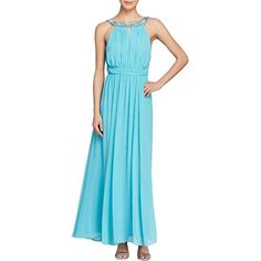 laundry BY SHELLI SEGAL Womens Open Back Gown Turquoise Breeze 2 ** Visit the image link more details. (This is an affiliate link) #fashiondresses