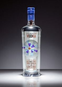 Durham Distillery vodka, branding based on stained-glass windows. Beautiful. #design #branding #packaging
